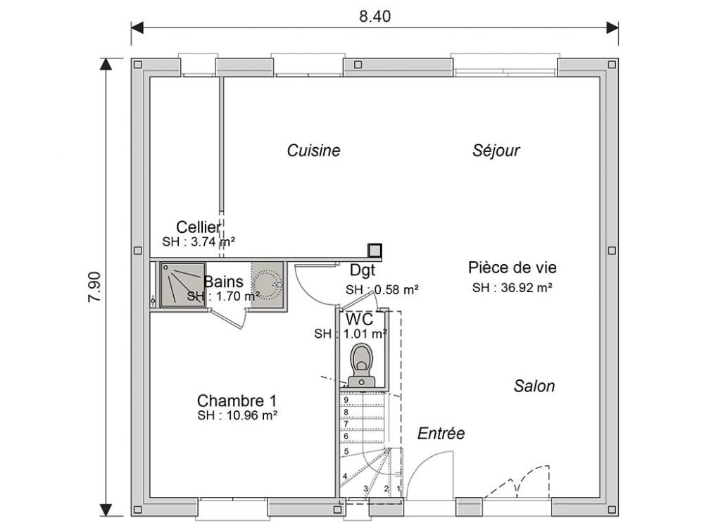 plan de maison perdu