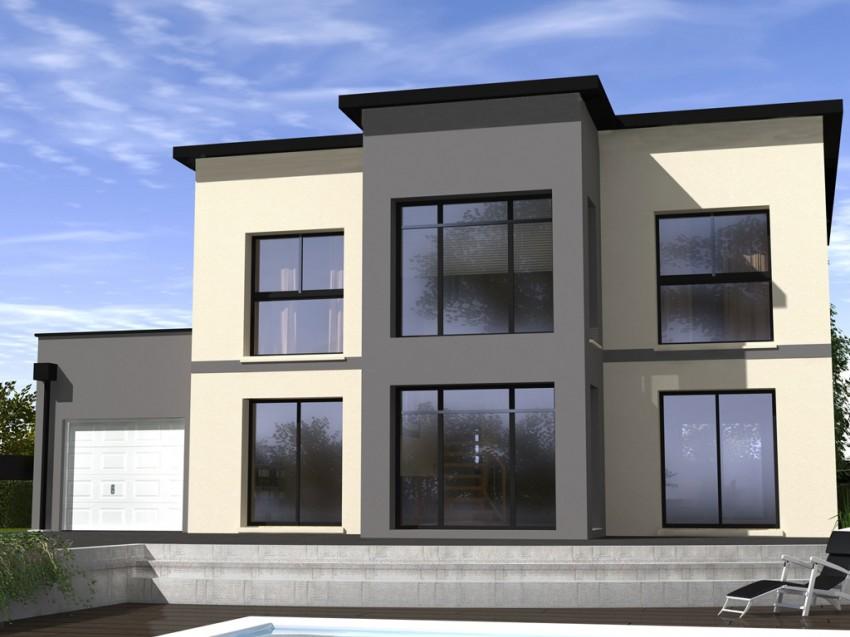 Construction maison individuelle contemporaine design de for Maison design construction