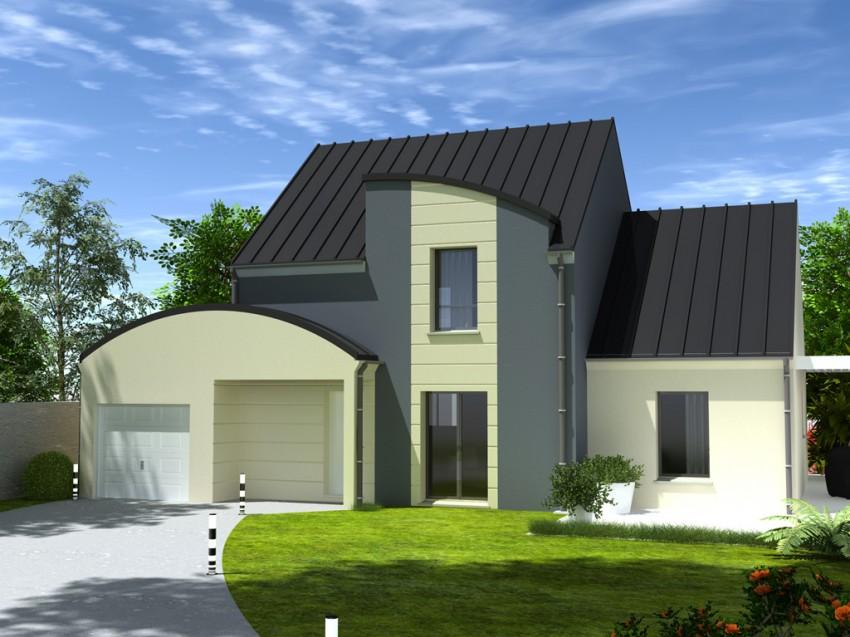 Construction maison individuelle contemporaine tendance de for Maison individuelle contemporaine