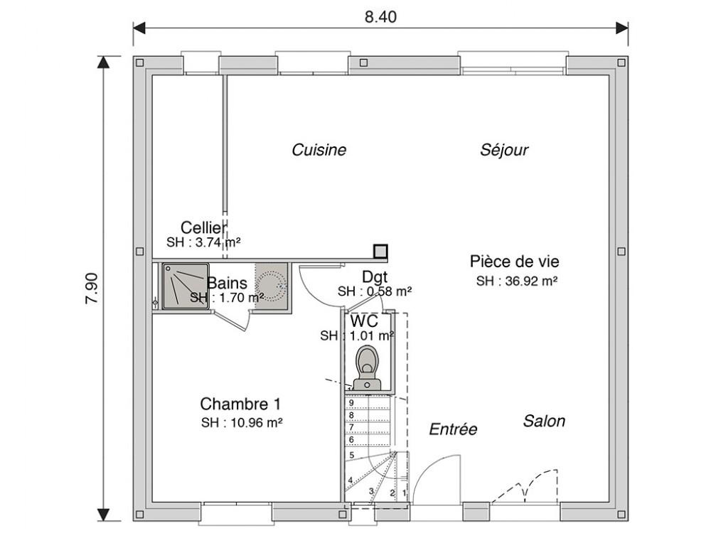 Construction Maison Premium À Énergie Positive Access 104 M²