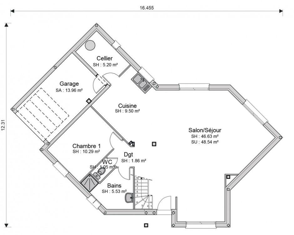 Construction Maison Neuve Traditionnelle Saint Saturnin De 125 M2