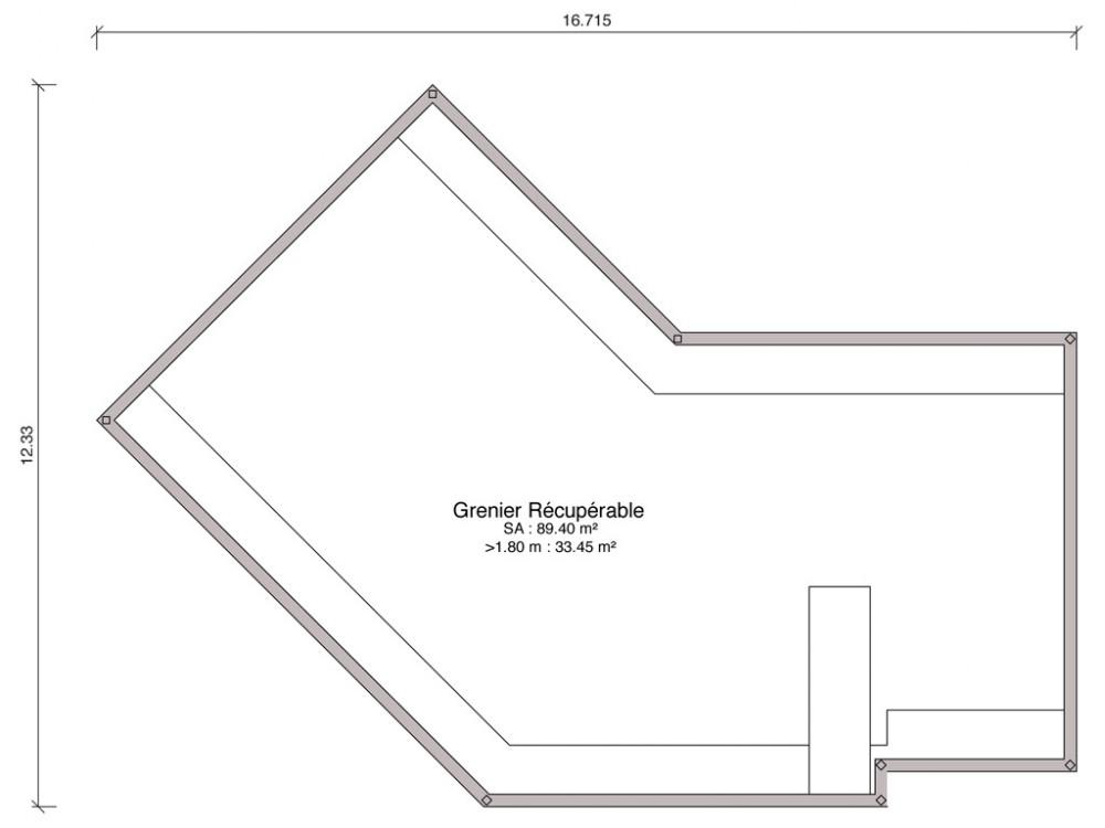 les plans des maisons iris et lys prsentent une forme originale en v ouvert leur faade est gaye par un il de buf en losange cette maison de - Plan Maison En V Avec Etage