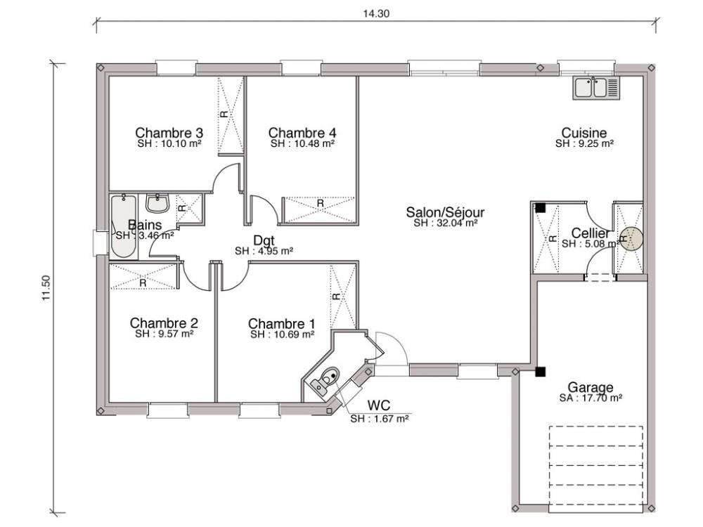 Construction Maison Individuelle Contemporaine Alliance De 97 M2