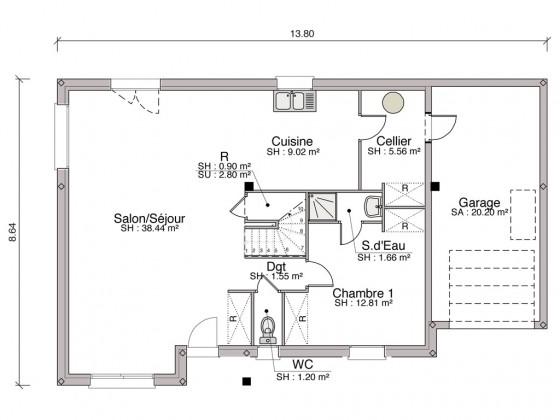 Construction maison individuelle traditionnelle baya de 108 m2 - Plan fabrication eolienne maison ...