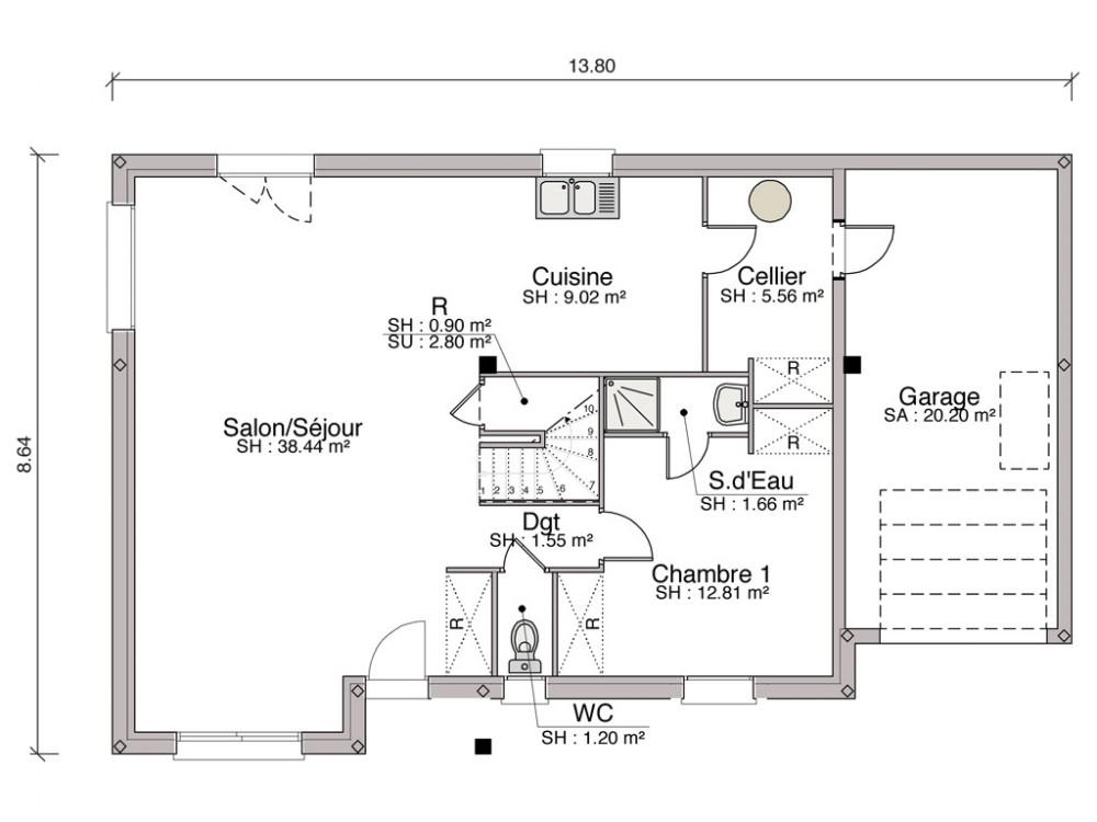 Plan Maison T Cool Plan Maison A Etage Chambres Plan Maison Moderne