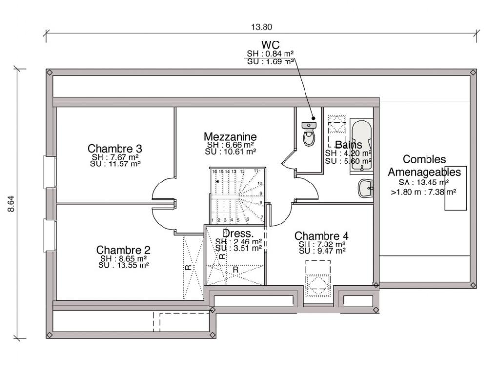 Construction Maison Individuelle Traditionnelle Baya De 108 M2