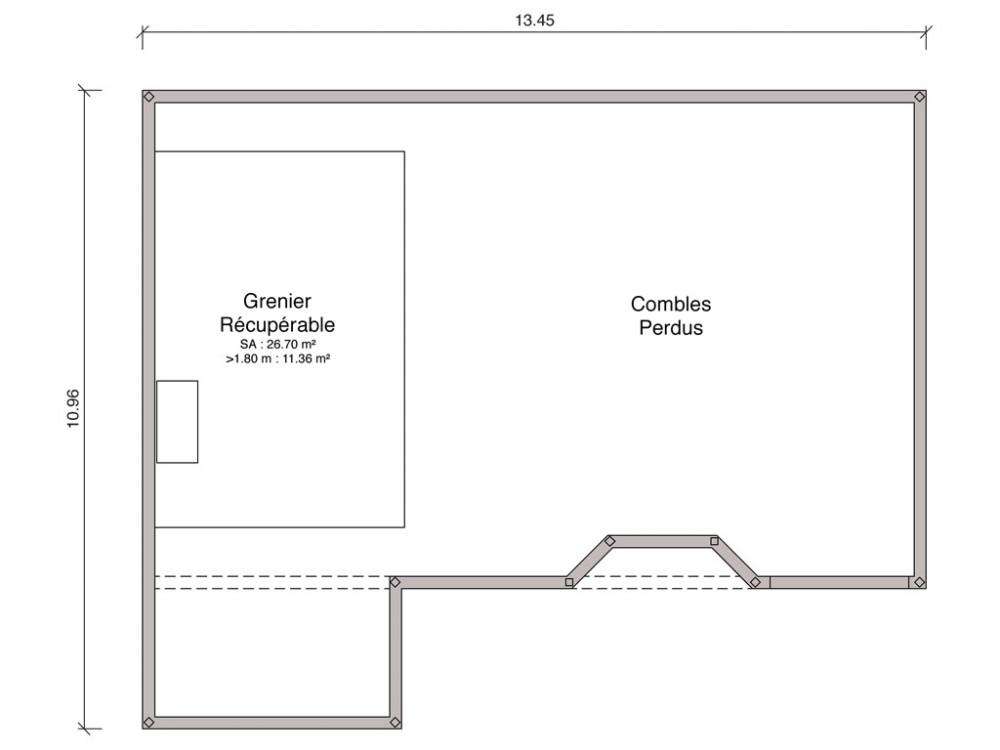Hauteur Faitage Maison Plain Pied Calculer La Surface Duune Toiture