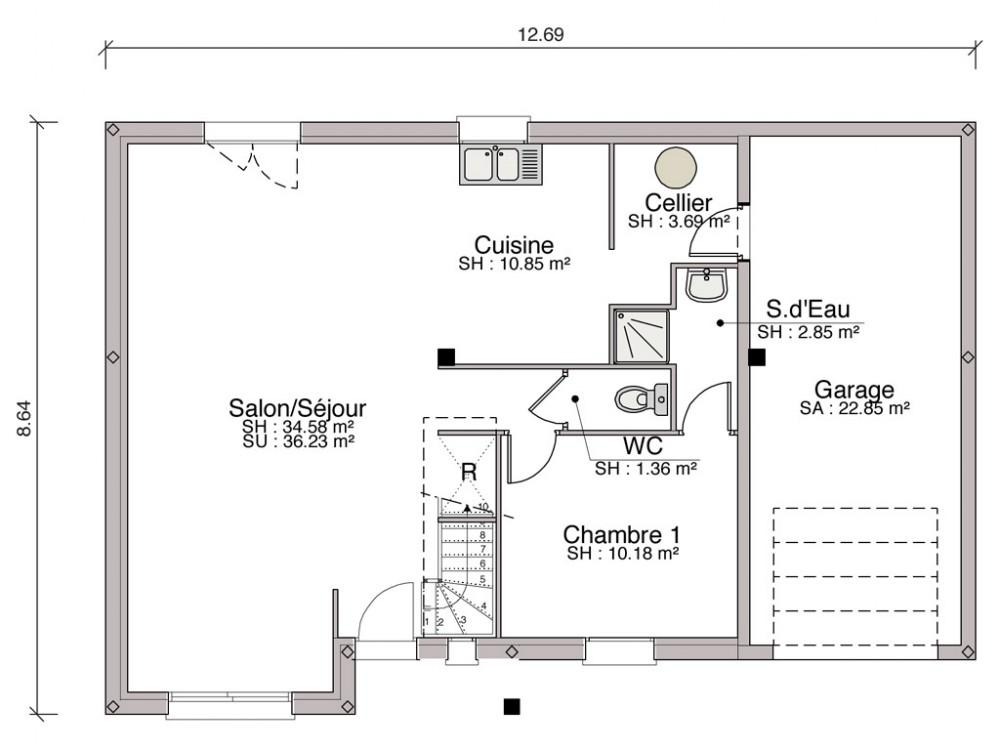 Prix du metre carre pour construire une maison beige for Combien de metre carre pour une salle de bain
