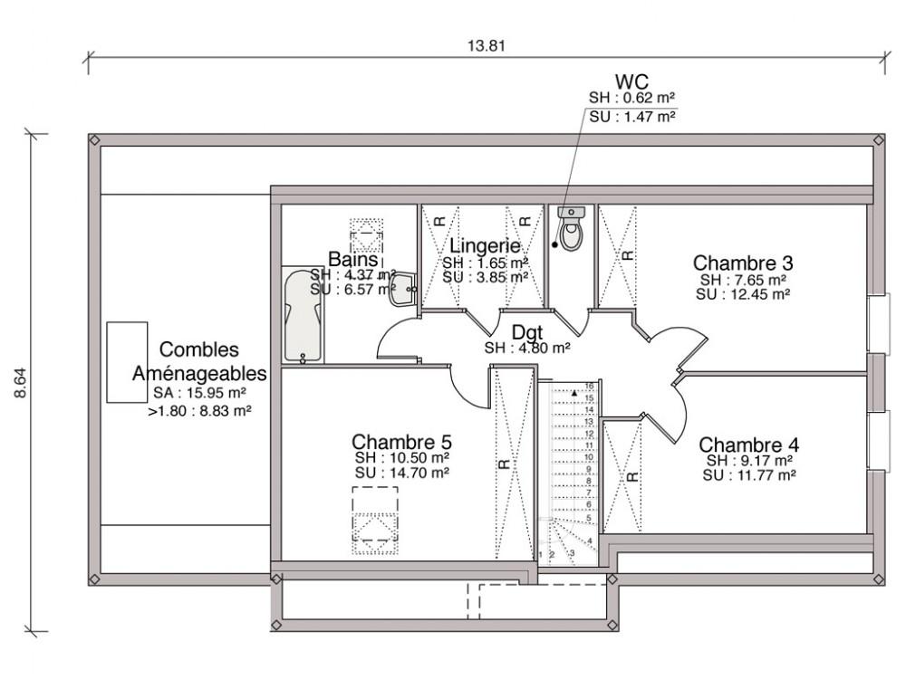 Construction maison individuelle traditionnelle el gance for Prix m2 maison neuve rt 2012