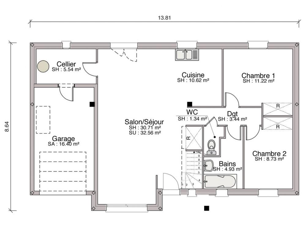 plan maison lelievre. Black Bedroom Furniture Sets. Home Design Ideas