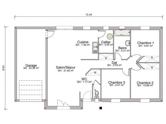 Construction maison individuelle traditionnelle el gance for Prix m2 construction maison rt 2012