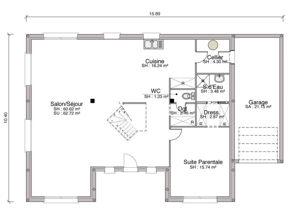 Construction Maison Traditionnelle Excellence Arp Ge De 129 M2