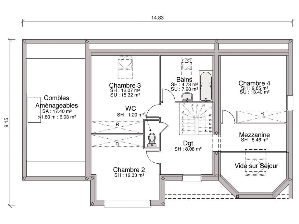 Construction Maison Individuelle Traditionnelle Koros De 133 M2