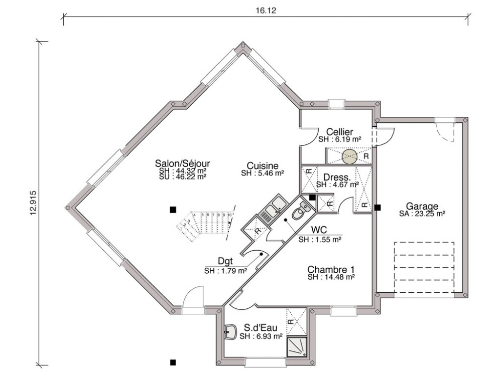 Construction Maison Individuelle Contemporaine Noria De  M