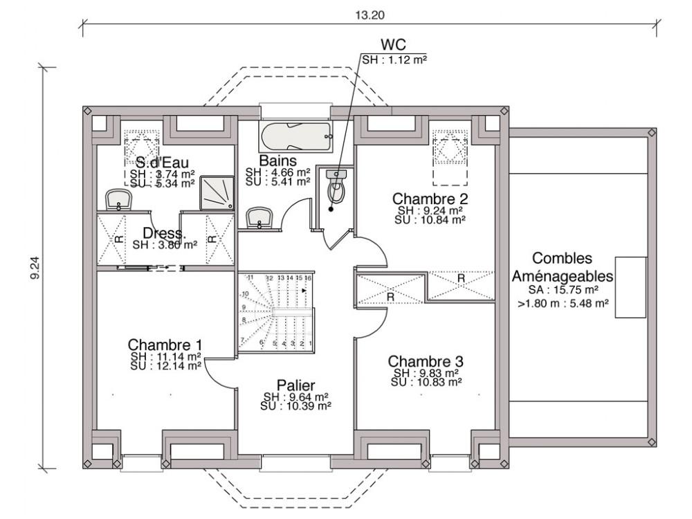 Plan Maison Combles Amnags. Trendy Best House Plan Maison Jumele