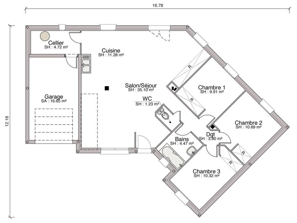 Maison Individuelle Traditionnelle Iris De  M
