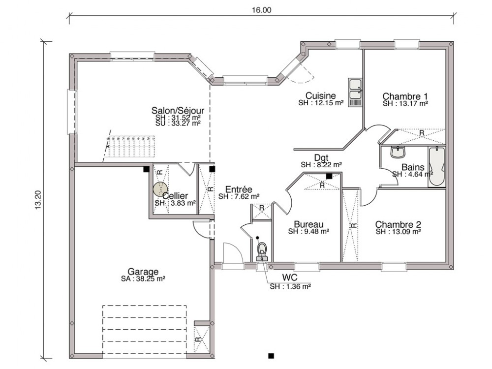Plan De Maison Interieur Cheap Sankar Light Plan Interieur With