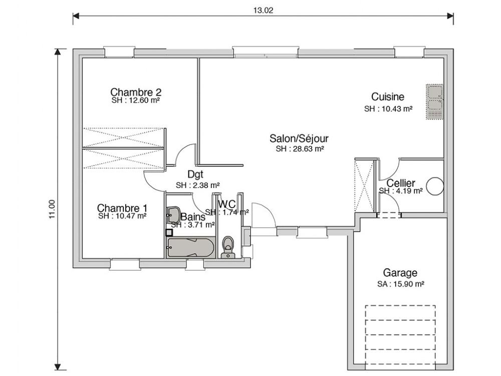 Construction maison nergie positive s duction de 74 m - Maison a energie positive plan ...
