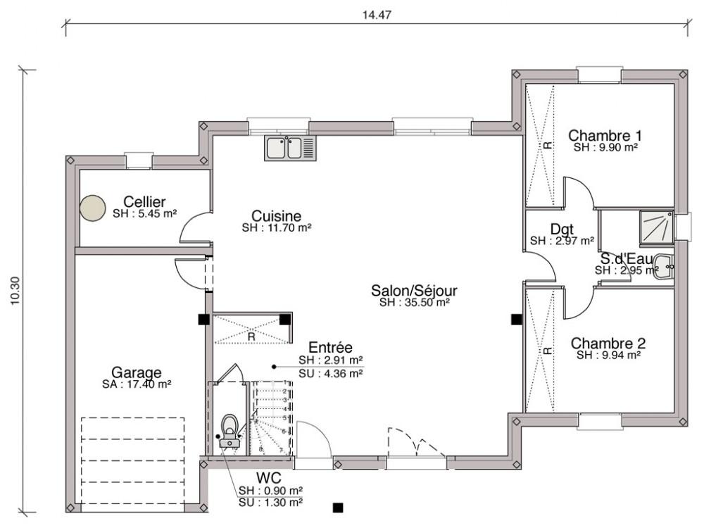 plan de maison nouvelle tendance