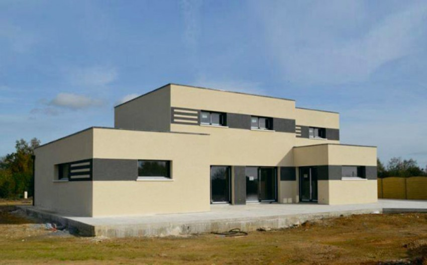 Bien-aimé Maison toit plat sur-mesure PM66