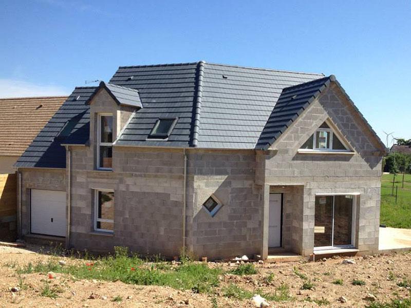 Photos maisons neuves individuelles photo chantier de construction - Temps de sechage fondation maison ...