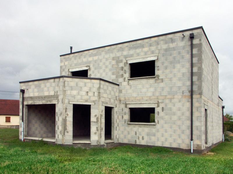 Construction maison toit plat mod le neva sarthe 72 for Modele maison toit plat