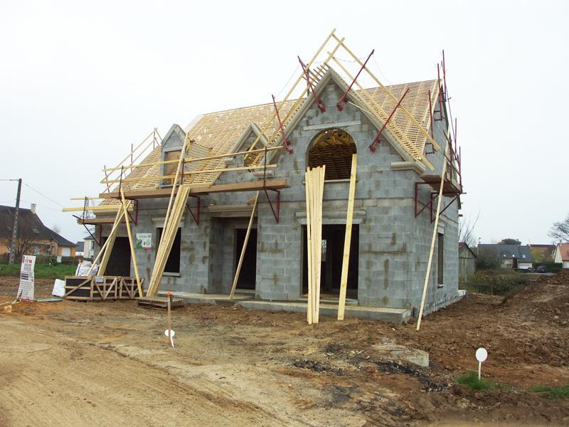 Photos maisons neuves individuelles photo chantier de construction - Lp charpente ...