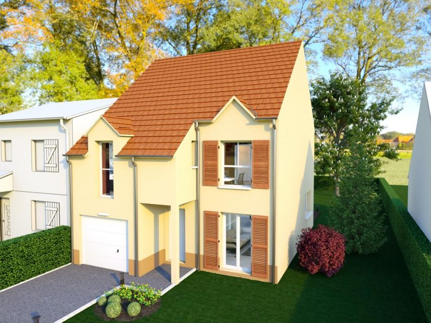 Plan De Maison Individuelle A Etage Ideal Pour Tres Petits Terrains