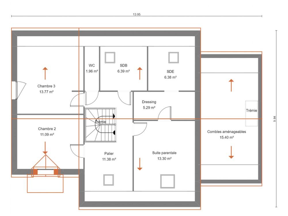 Plan De Maison Familiale Traditionnelle 4 Chambres